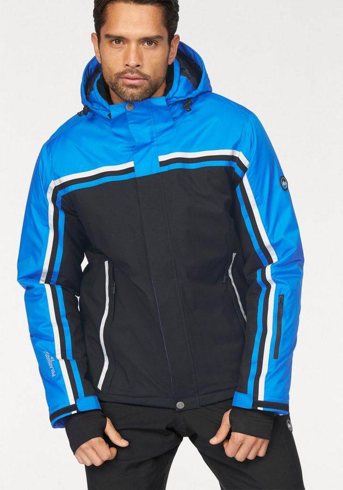 Polarino Skijacke Wind- und wasserdicht in schwarz-blau