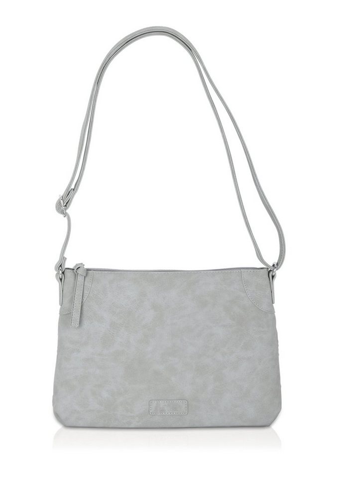 s.Oliver City Bag in Velour-Optik mit Cut-Muster in stone