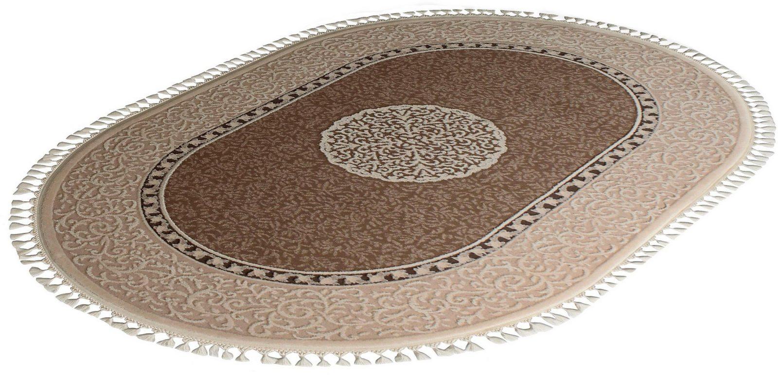 Orient-Teppich, Oval, Sanat Hali, »Delüks 6802«, gewebt