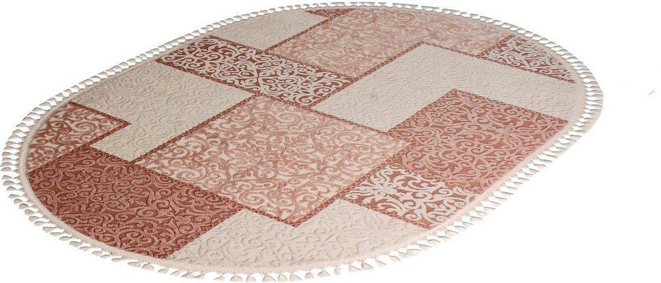 Orient-Teppich, Oval, Sanat Hali, »Delüks 6891«, gewebt in beige