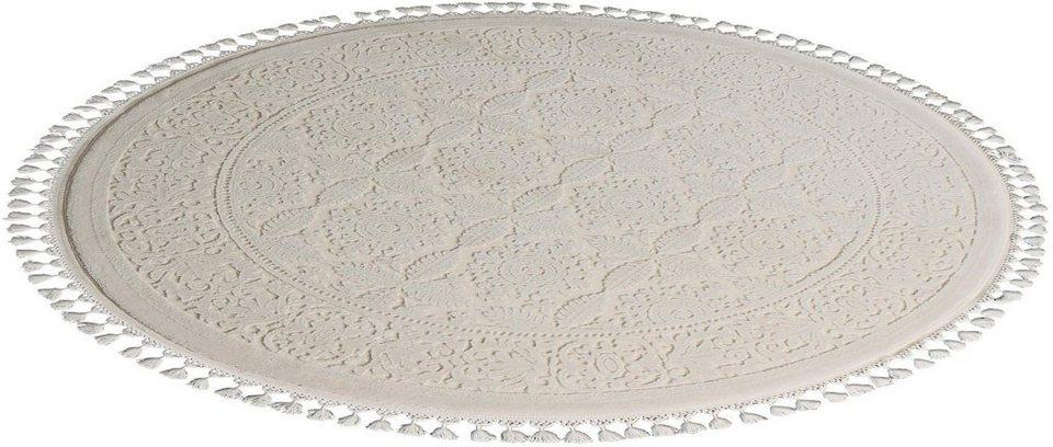 Orient-Teppich, rund, Sanat Hali, »Delüks 6894«, gewebt in natur