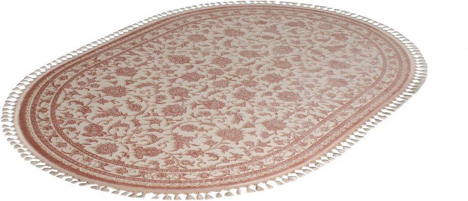 Orient-Teppich, Oval, Sanat Hali, »Delüks 6896«, gewebt in braun
