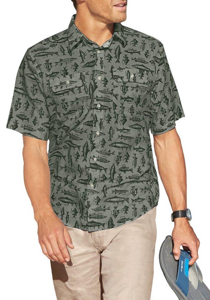 Eddie Bauer Hemd bedruckt in Grün