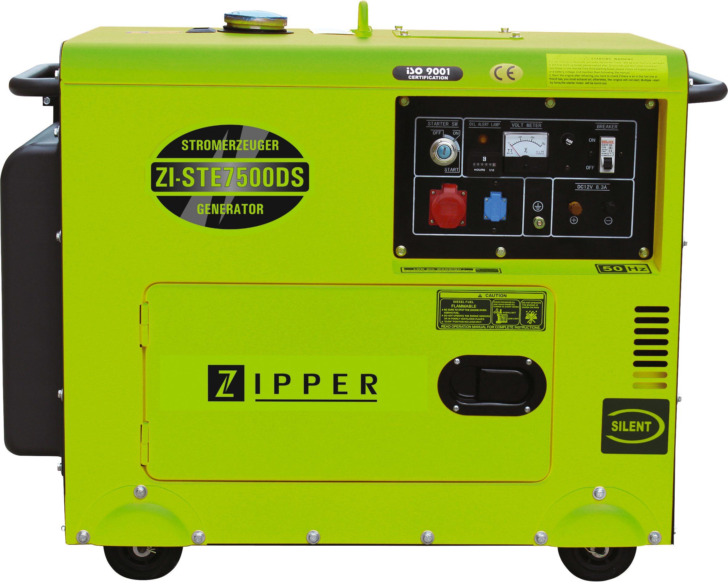 Stromerzeuger »ZI-STE7500DS« mit 2 Steckdosen (1 x 230 V / 1 x 400 V)