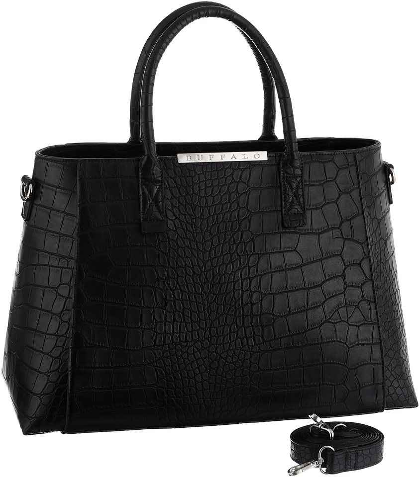 Buffalo Shopper »CROCO« mit Reptilprägung in schwarz