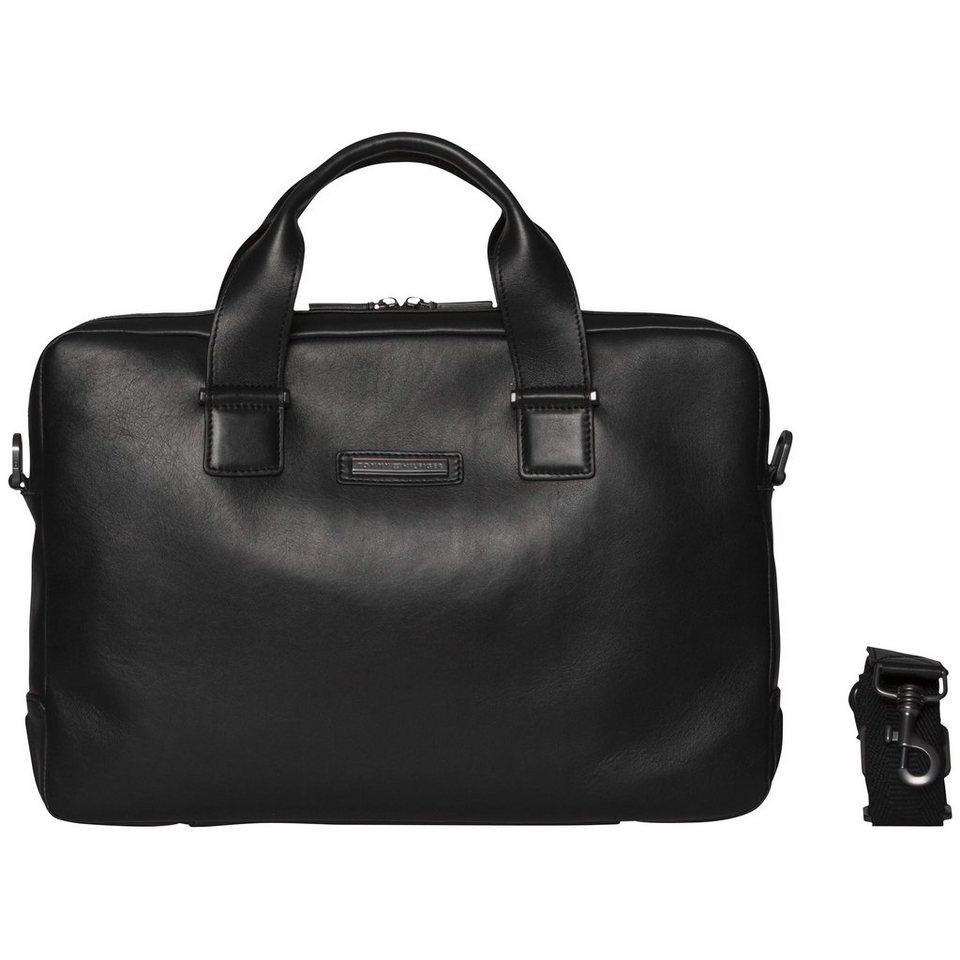 Tommy Hilfiger Handtaschen »SMART CASUAL LEATHER COMPUTER BAG« in Black