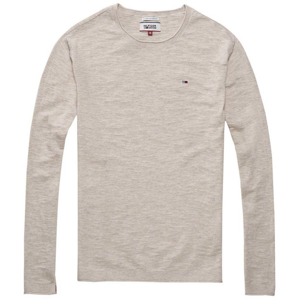 Hilfiger Denim Sweatshirts »THDM BASIC CN SWEATER L/S 1« in Oatmeal htr