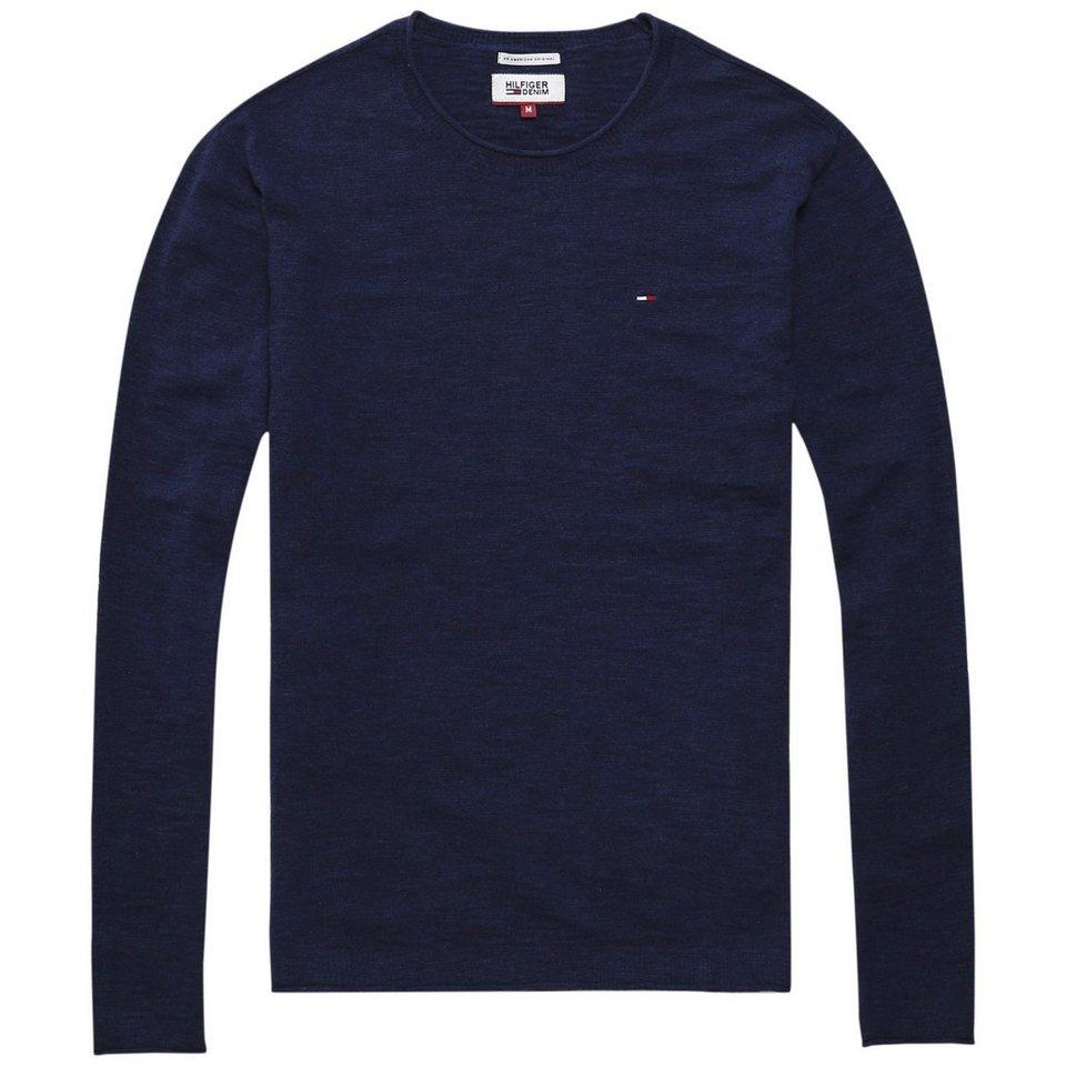 Hilfiger Denim Sweatshirts »THDM BASIC CN SWEATER L/S 1« in Dark Navy HTR