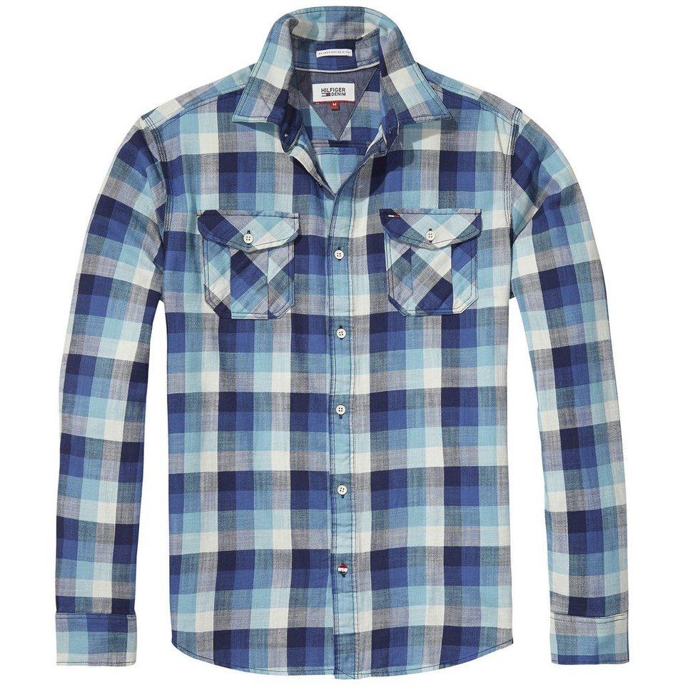 Hilfiger Denim Hemden »THDM CHECK SHIRT L/S 8« in Colonial Blue