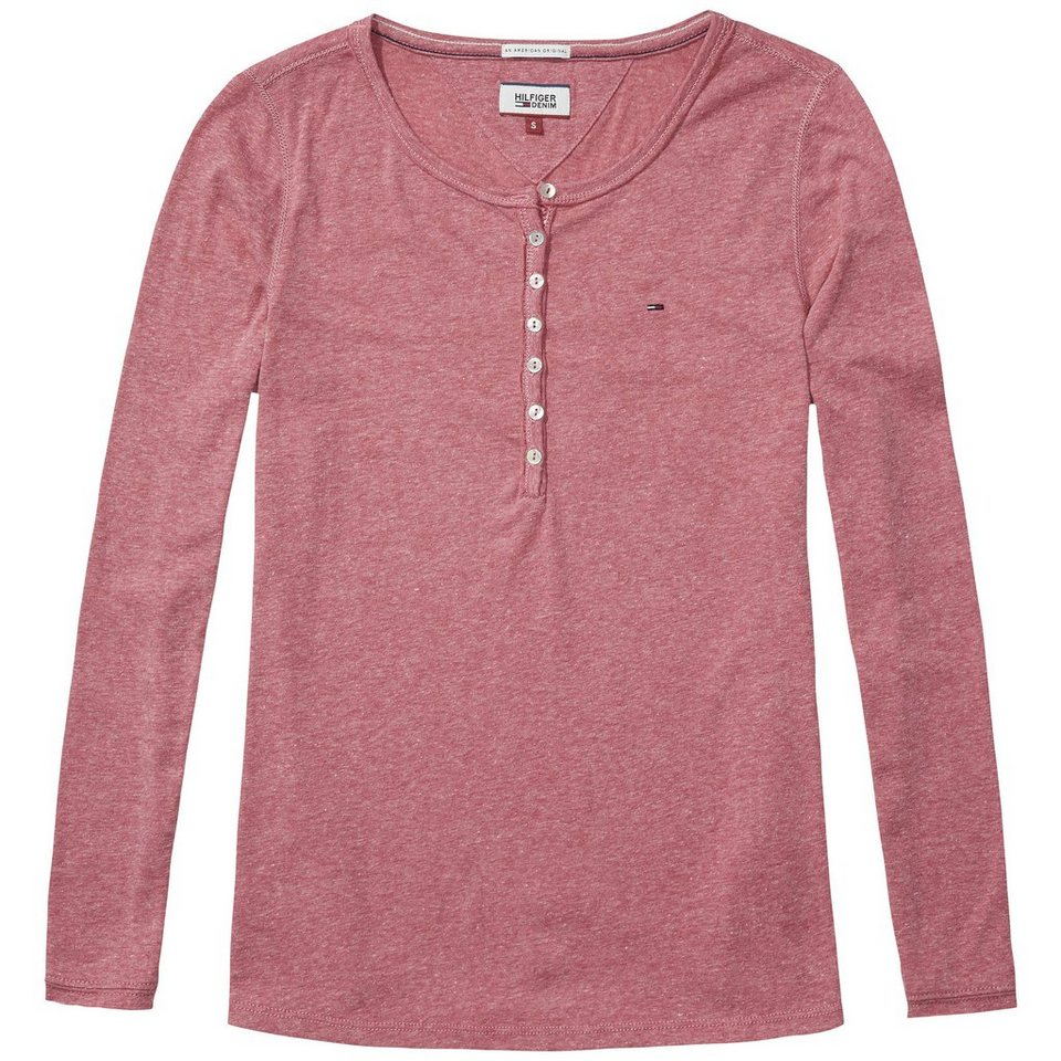 Hilfiger Denim Shirts (mit Arm) »THDW BASIC CN HENLEY L/S 5« in Sangria
