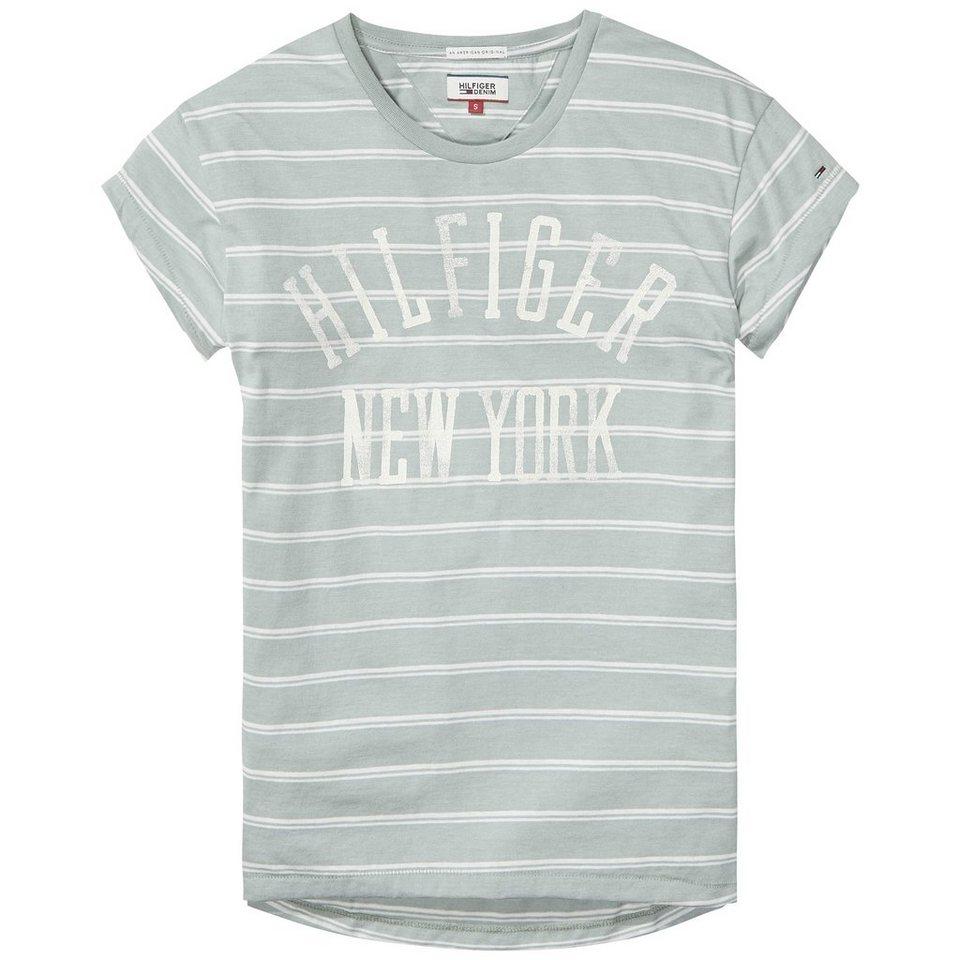 Hilfiger Denim T-Shirts (mit Arm) »THDW CN T-SHIRT S/S 14« in Tourmaline/Egret