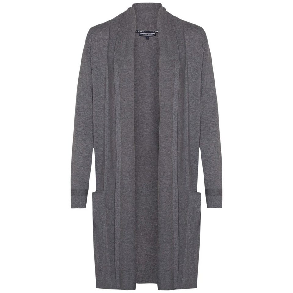 Tommy Hilfiger Strickjacken »NEW HAVERA LONG CARDI« in MEDIUM GREY