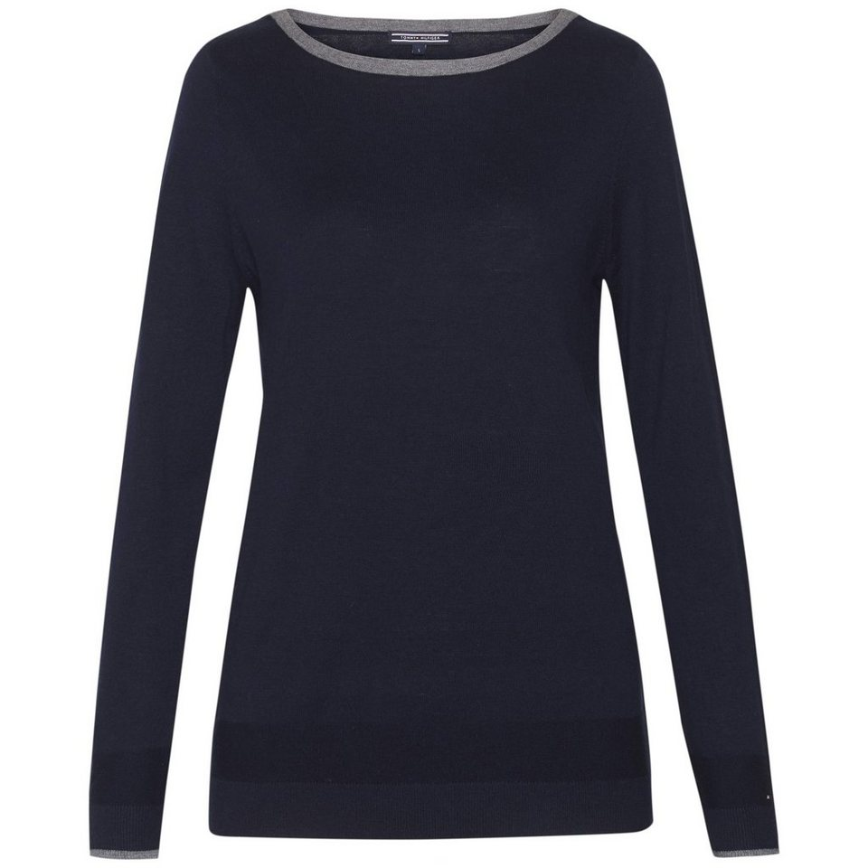 Tommy Hilfiger Pullover »NEW HAVERA TIPPING BOAT-NK SWTR« in Navy