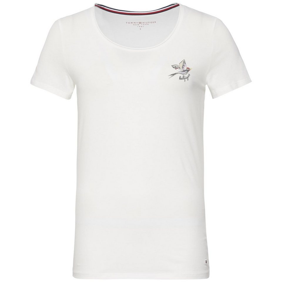 Tommy Hilfiger T-Shirts (mit Arm) »LIZZY ROUND-NK TOP SS« in SNOW WHITE