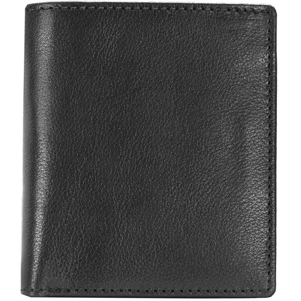 Leonhard Heyden Cambridge Geldbörse Leder 10,5 cm in schwarz