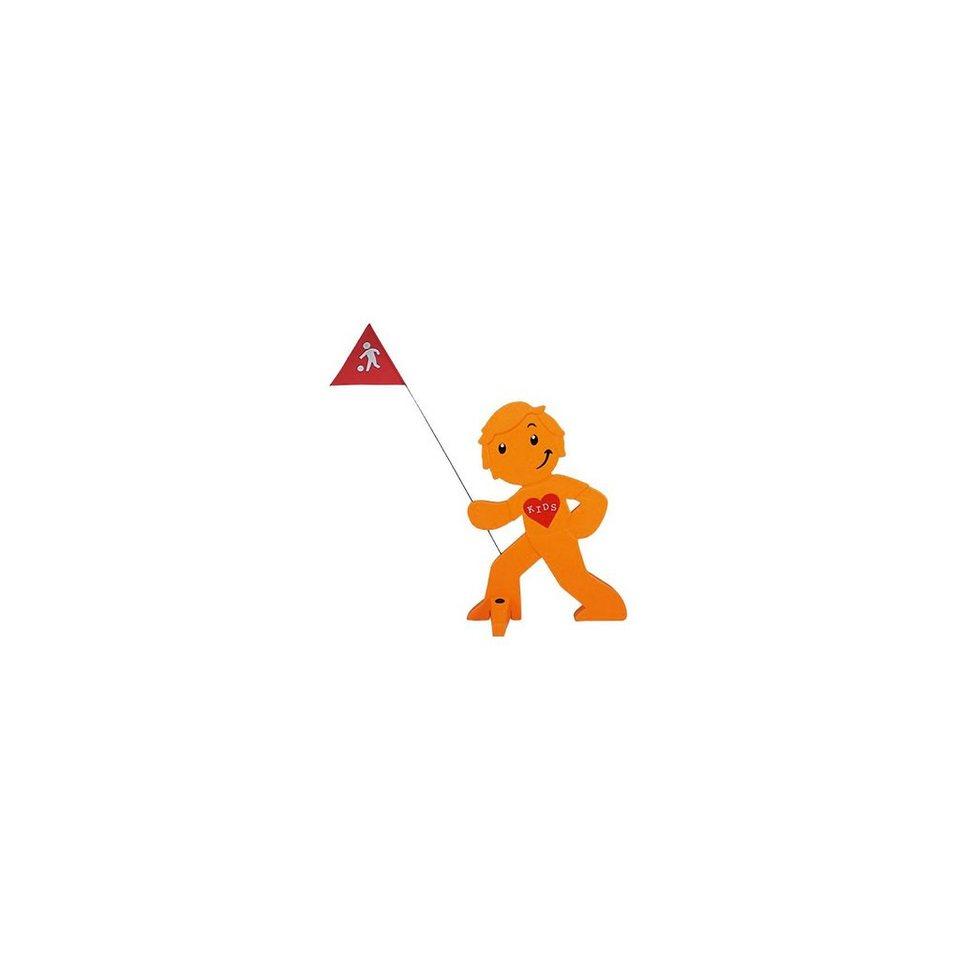 Beachtrekker StreetBuddy Warnfigur für Kindersicherheit, orange