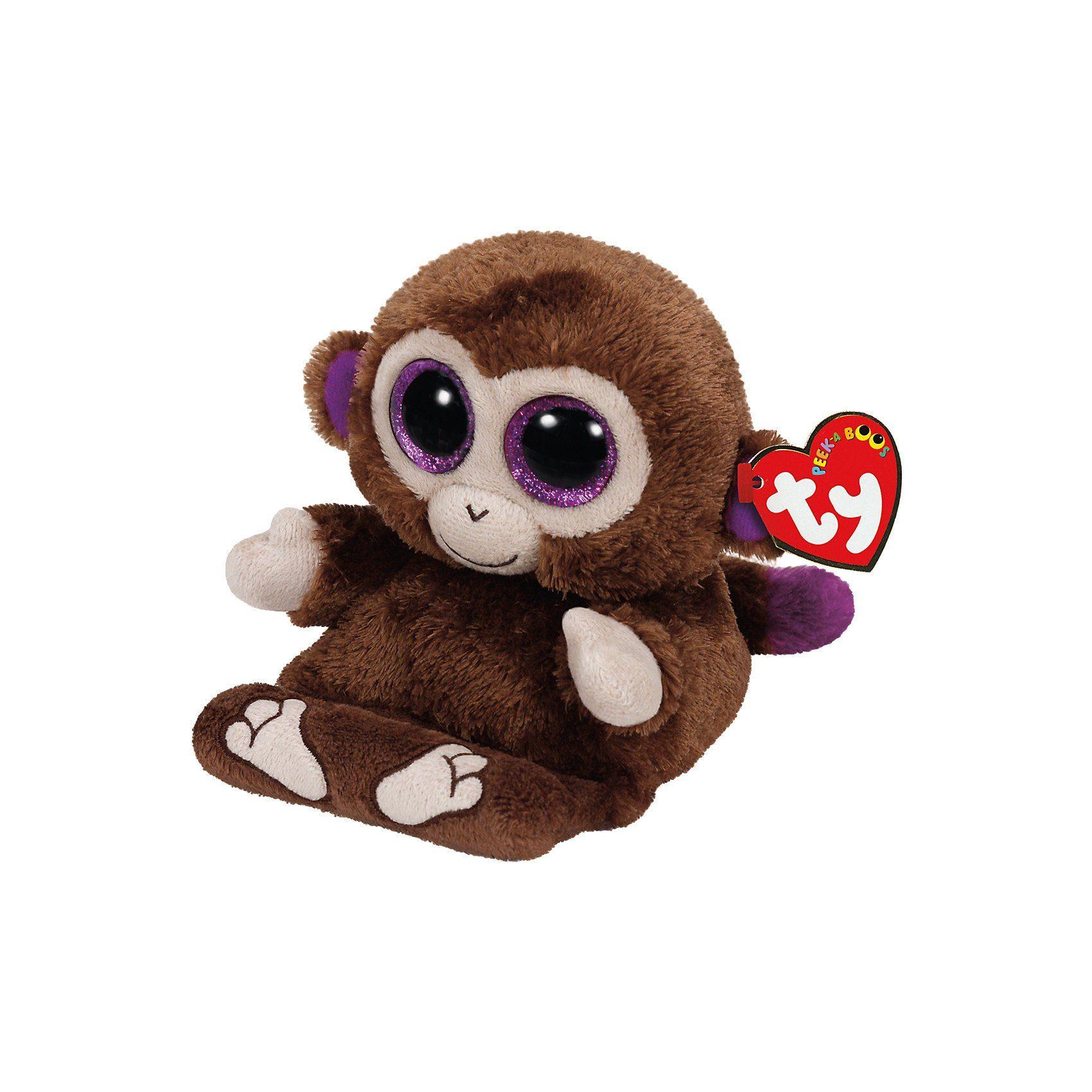 Ty® Peek-A-Boo Chimp, Affe 15 cm, Handyhalter