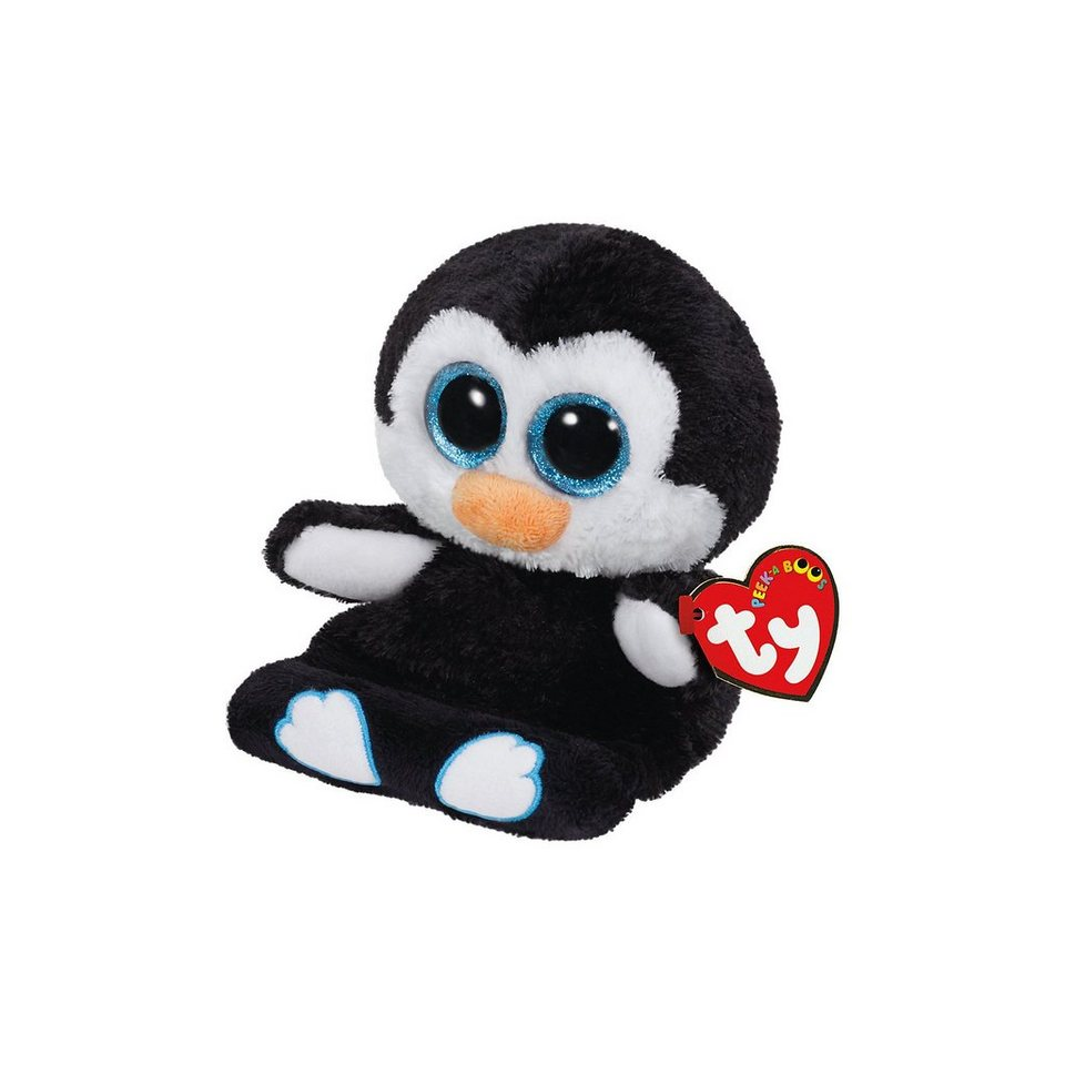 Ty Peek-A-Boo Penni, Pinguin 15 cm, Handyhalter
