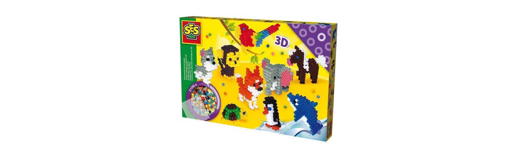 SES Creative Bügelperlenset - 3D Tiere