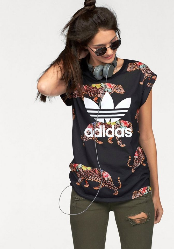 adidas Originals T-Shirt in schwarz-bunt