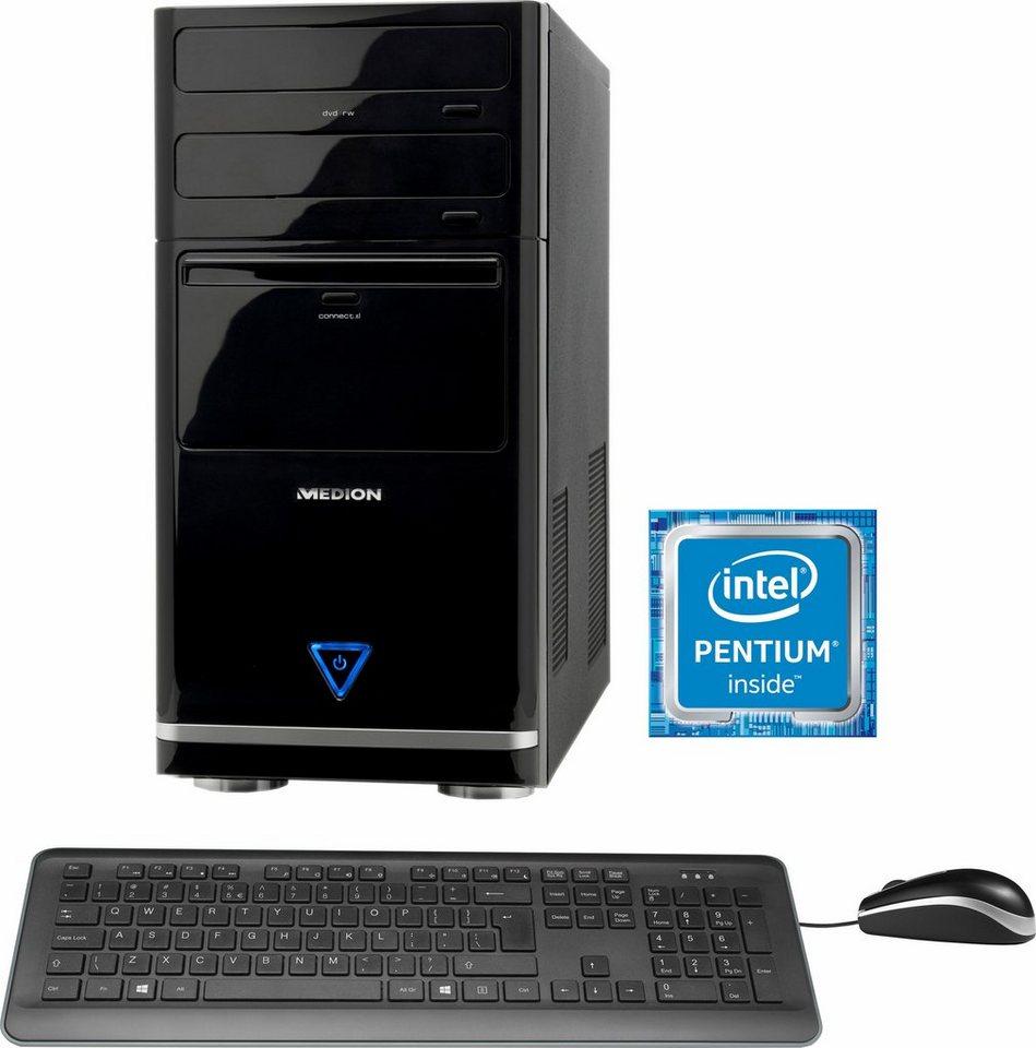 Medion® Akoya E5104 D PC, Intel® Pentium™, 8192 MB DDR3L SDRAM, 2000 GB Speicher, Intel® HD-Grafik in schwarz