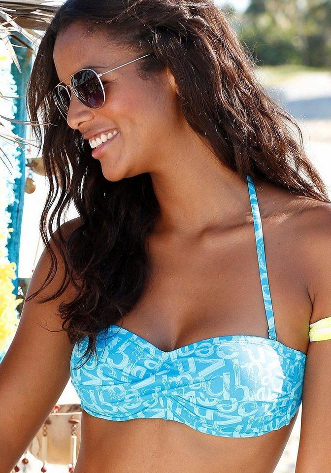 Bademode - Venice Beach Bandeau Bikini Top »Karibik«, mit coolem Alloverprint › blau  - Onlineshop OTTO