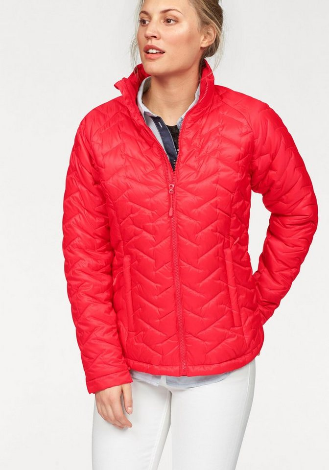 Jack Wolfskin Steppjacke »ICY CREEK WOMEN« warm wattierte Übergangsjacke in rot
