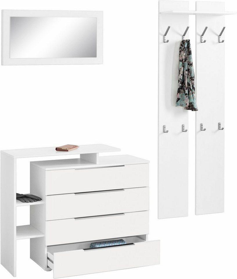 Garderoben-Set »Lara« (3-tlg.) in weiß/weiß matt