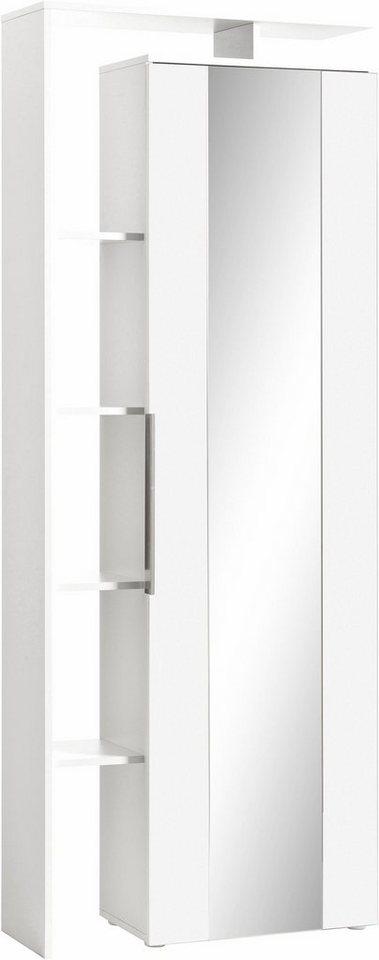 Garderobenschrank »Lara« in weiß/weiß matt
