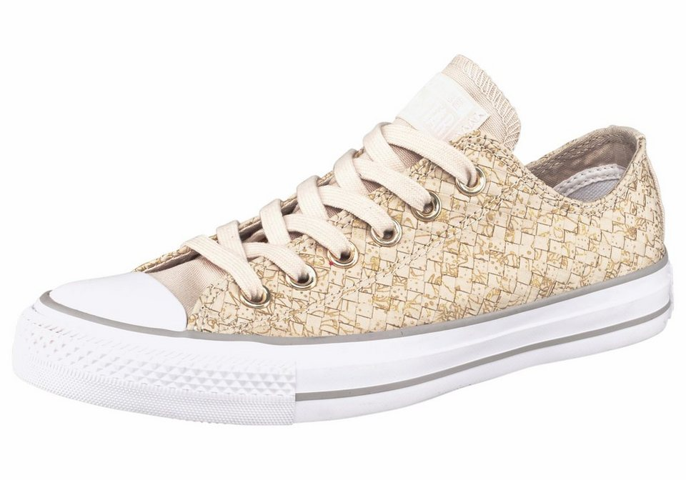 Converse »Chuck Taylor All Star Ox Print Woven« Sneaker in beige-goldfarben