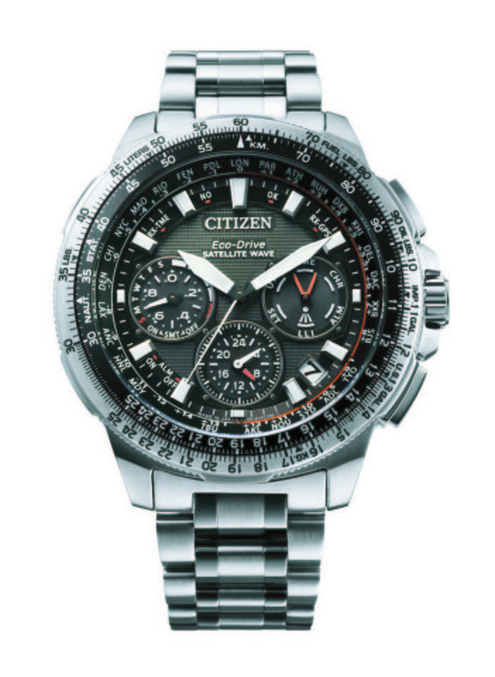 Citizen Chronograph »CC-9020-54E« Mit Satellite Timekeeping System in grau