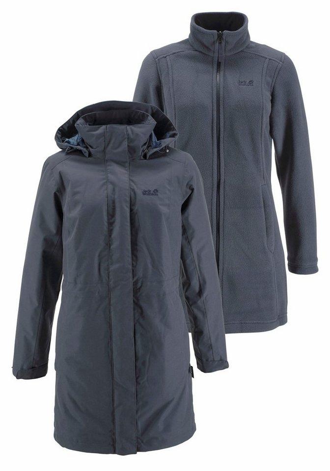 jack wolfskin wintermantel ottawa coat set 2 tlg. Black Bedroom Furniture Sets. Home Design Ideas