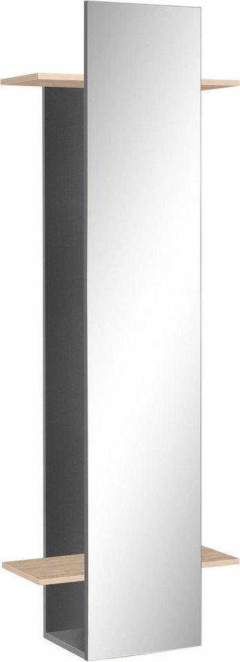 Schildmeyer Garderobenpaneel »Beli« mit Spiegel in basaltgrau/edelbuchefb.