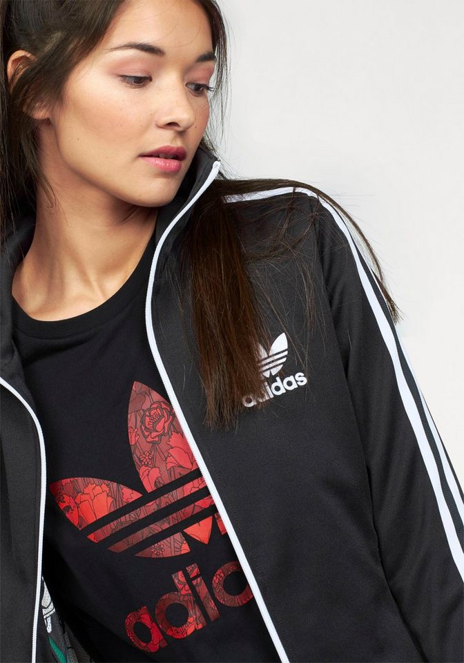 adidas Originals Trainingsjacke »EUROPA TT« in schwarz