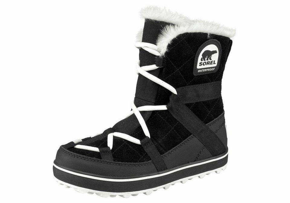 Sorel »Glacy Explorer Shortie« Outdoorschuh in schwarz