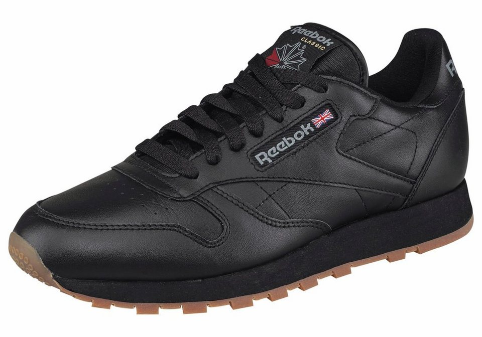 Reebok »Classic Leather« Sneaker in schwarz-beige