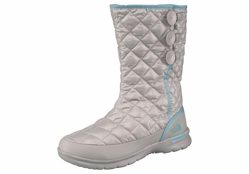 The North Face »Women's THERMOBALL BUTTON-UP« Outdoorwinterstiefel in silberfarben-grau