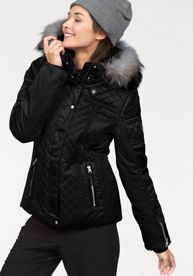 Icepeak Skijacke »CAROL« Winddicht, wasserdicht, atmungsaktiv in schwarz
