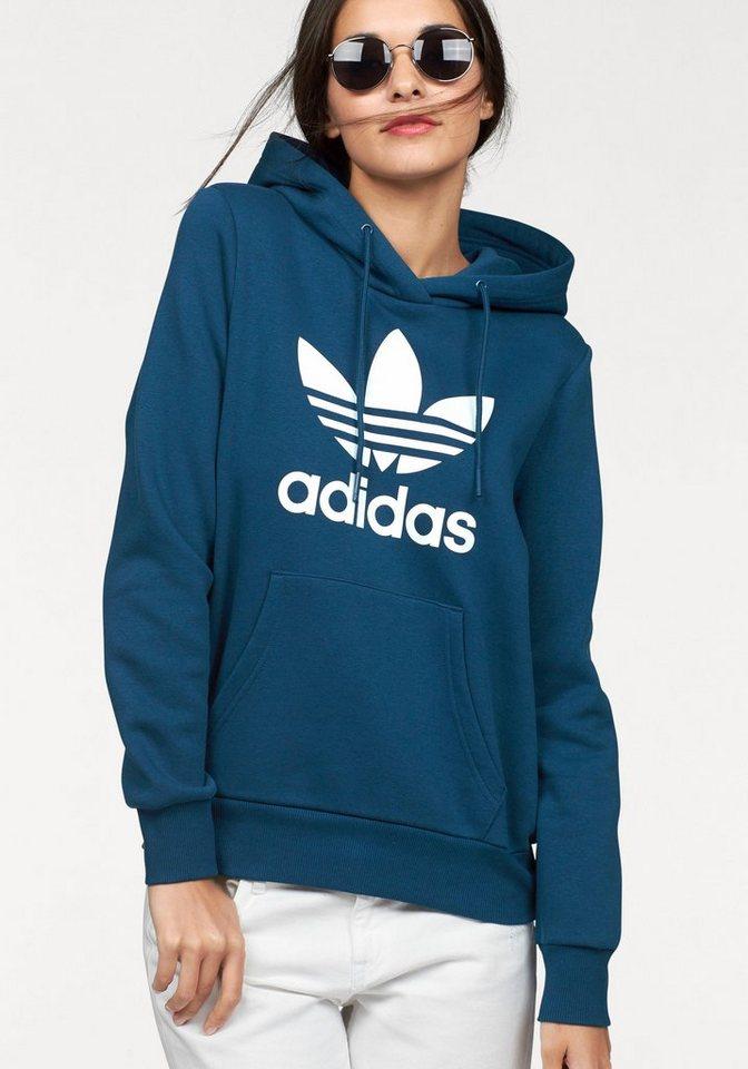adidas Originals Kapuzensweatshirt »TRF LOGO HOODIE« in petrol