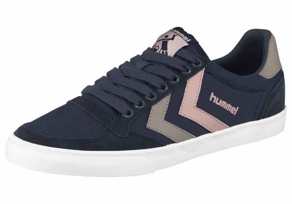 Hummel »Slimmer Stadil Duo Canvas« Sneaker in dunkelblau-altrosa