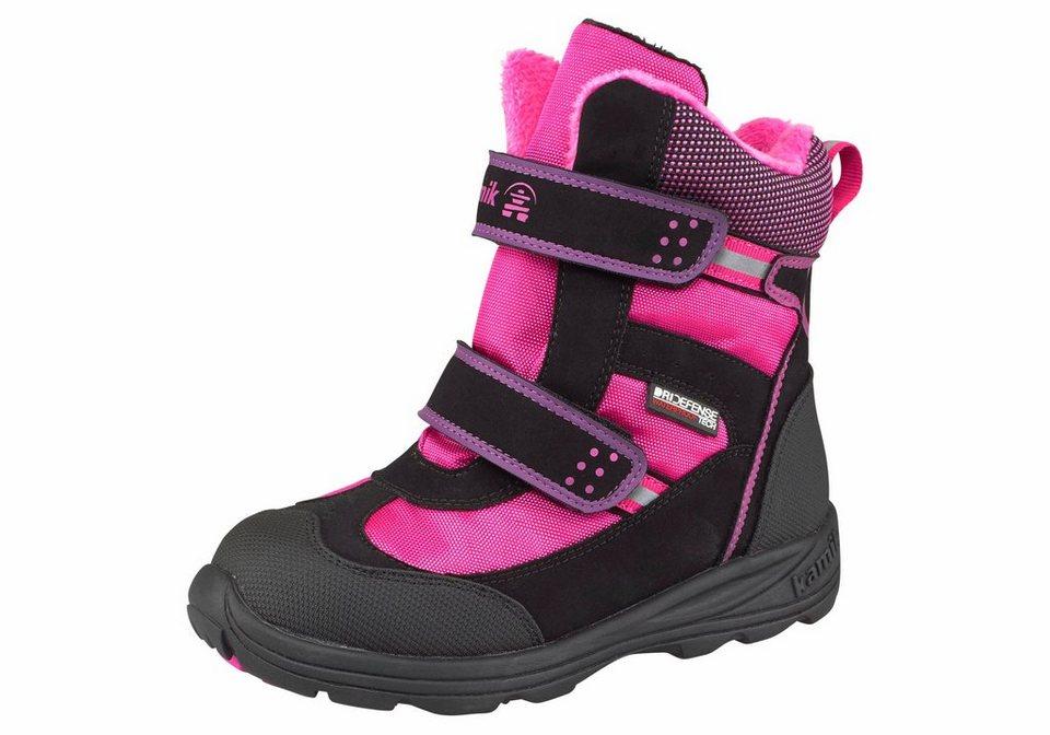 Kamik »Slate« Outdoorwinterstiefel in schwarz-pink