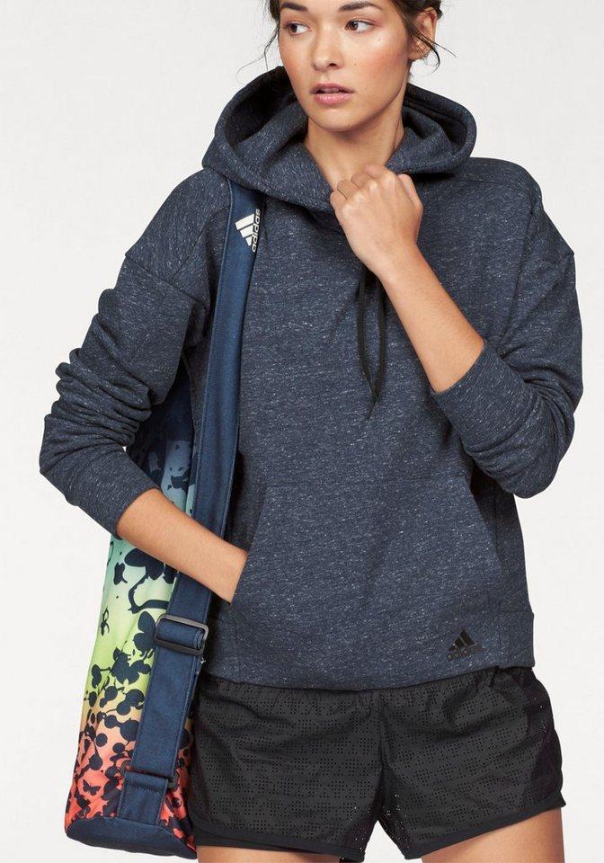 adidas Performance Kapuzensweatshirt »COTTON FLEECE HOODIE« in marine-meliert