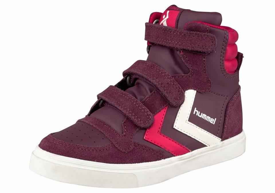 Hummel »Stadil Leather Sneaker Junior« Sneaker in bordeaux-rot