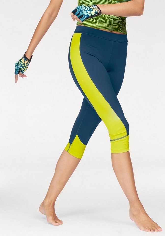 adidas Performance 3/4-Hose »TECHFIT CAPRI« in blau-gelb
