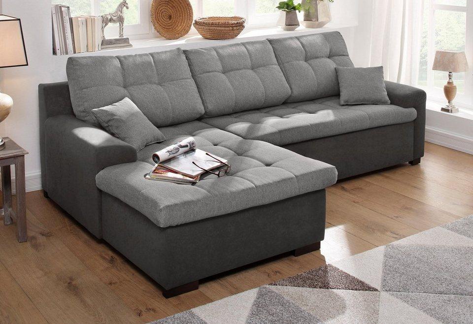 home affaire polsterecke f hr wahlweise mit bettfunktion online kaufen otto. Black Bedroom Furniture Sets. Home Design Ideas