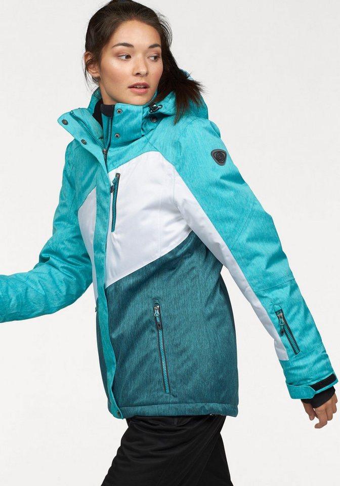 Killtec Skijacke »EMIRI« Wasser, und winddicht, atmungsaktiv in mint-weiß