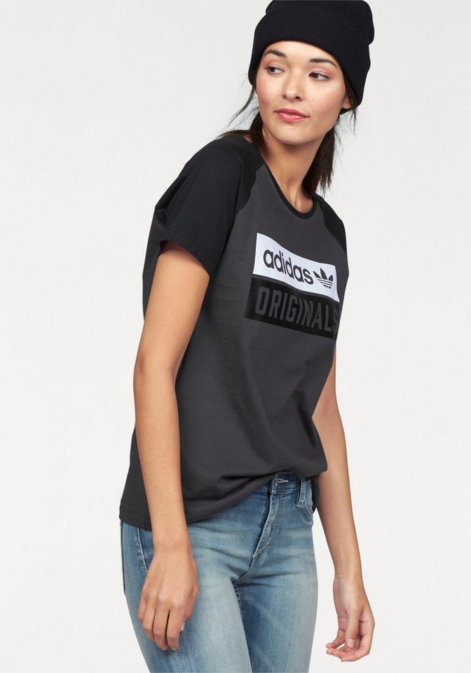 adidas Originals T-Shirt in anthrazit-schwarz