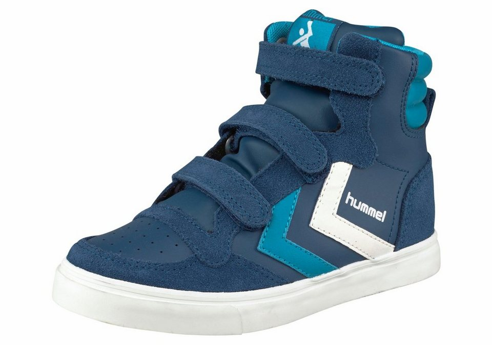 Hummel »Stadil Leather Sneaker Junior« Sneaker in marine-türkis