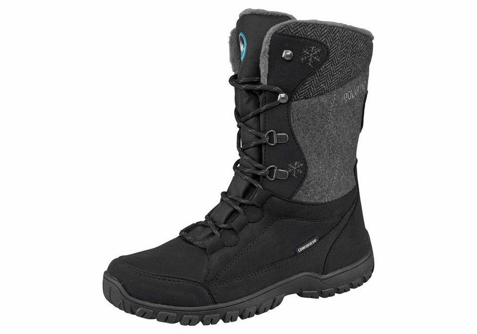Polarino »Boot Elin« Outdoorwinterstiefel in schwarz-grau