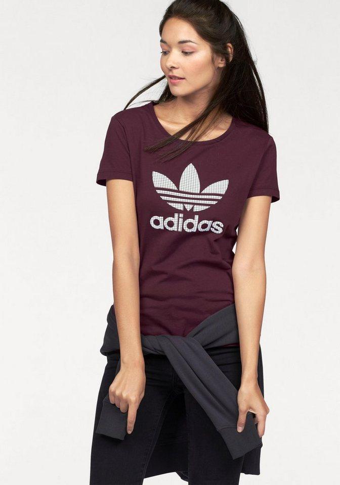 adidas Originals T-Shirt in bordeaux